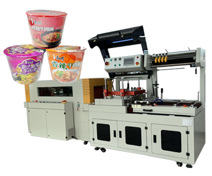 Instant noodle heat shrink wrapping packaging machine