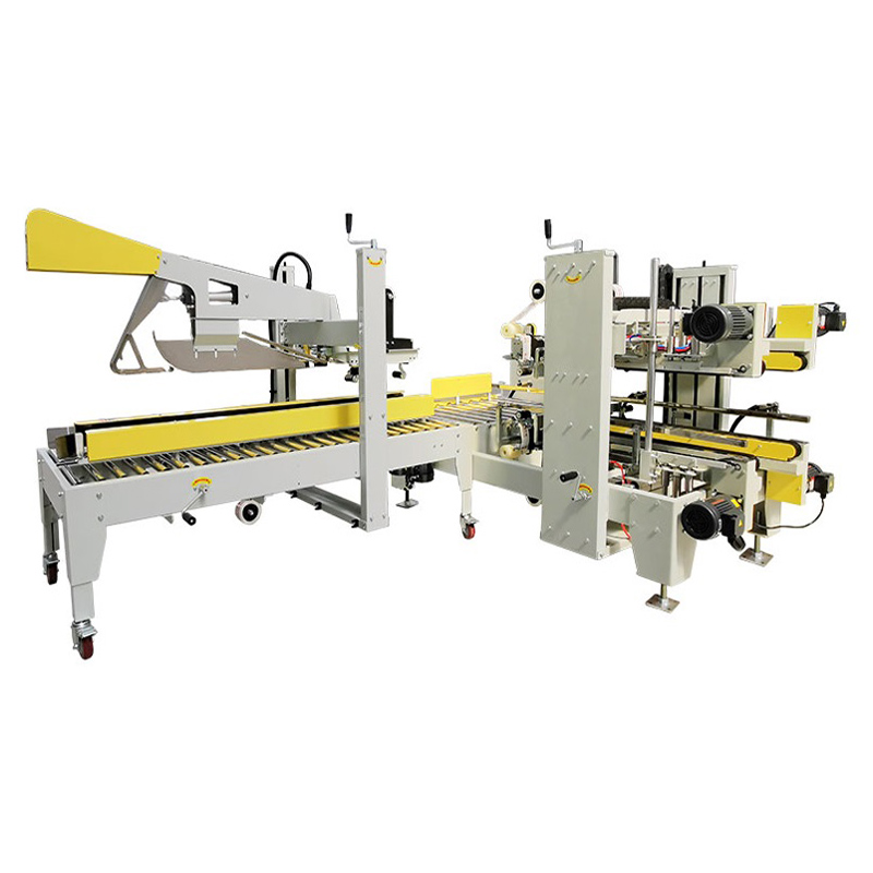 Automatic carton folding and corner side sealer